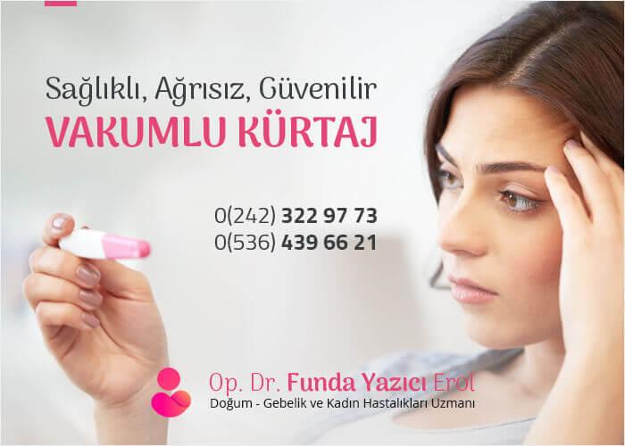 Vakumlu Kürtaj Antalya